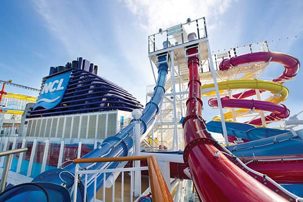 Stay active while cruising at Norwegian's Aqua Park