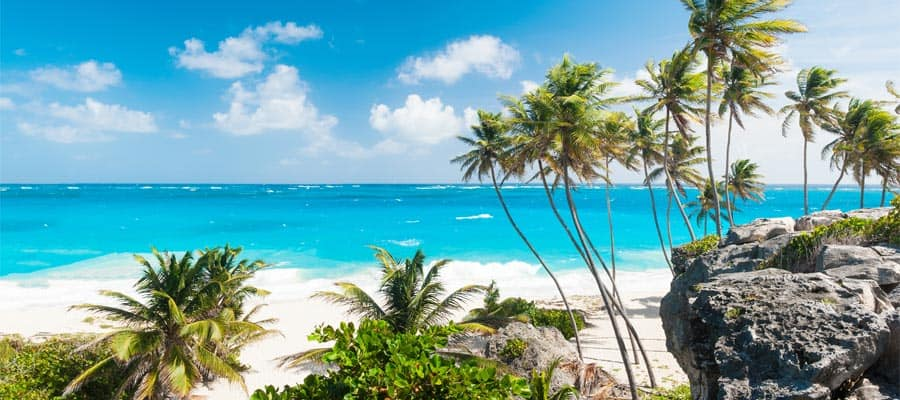 Relax on a beach on our Caribbean Cruises
