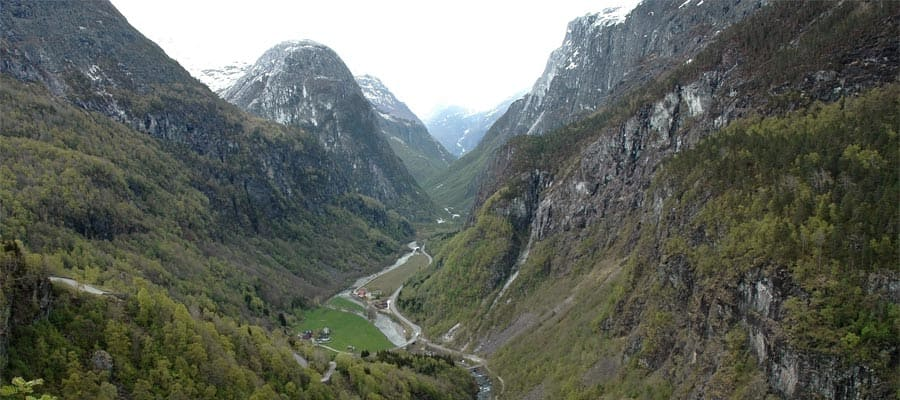Norwegian valley when you cruise to Bergen