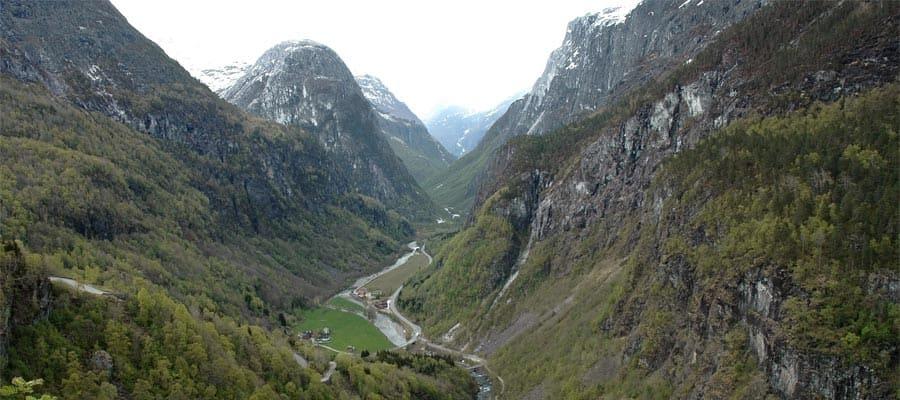 Valle noruego en tu crucero a Bergen