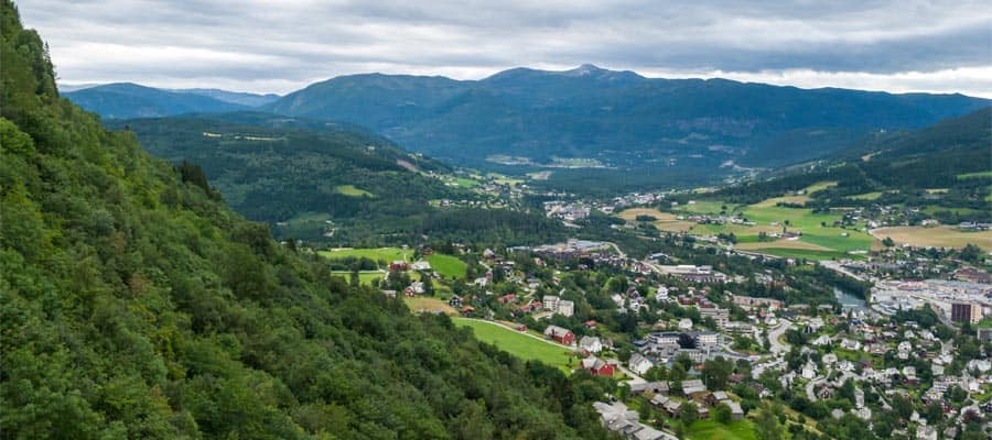 Beautiful hills of Voss on your Europe cruise