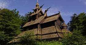 Troldhaugen & Fantoft Stave Church