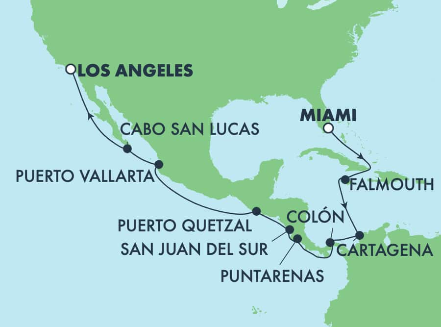 16-Day Panama Canal From Miami To Los Angeles: Mexico & Jamaica