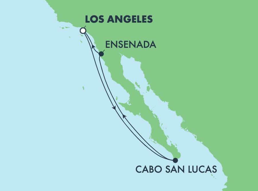 שייט הלוך ושוב בן5 ימים לריביירה המקסיקנית מלוס אנג'לס: קאבו ואנסנדה