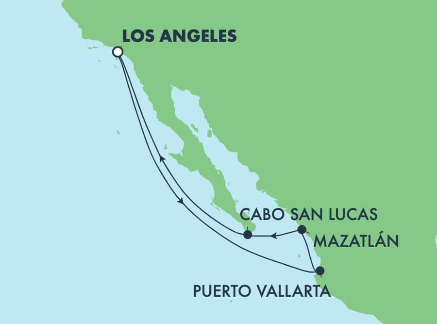7-Day Mexican Riviera Round-trip Los Angeles: Cabo & Puerto Vallarta