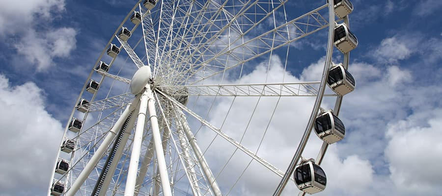 Observation wheel on a Brisbane Cruise