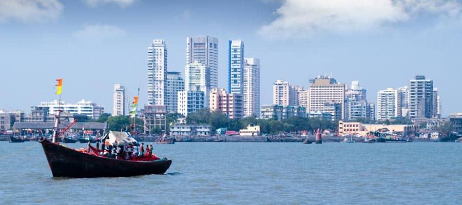 Immeubles indiens lors de votre croisière à Mumbai