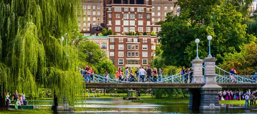 Boston Public Garden on your Bermuda cruise