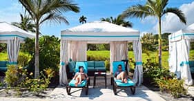 Private Canopy Pool Cabana