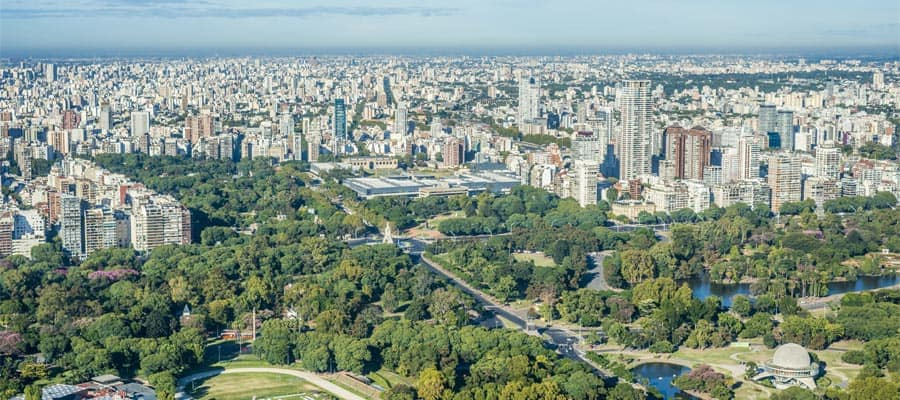 Bosques de Palermo en un crucero a Buenos Aires