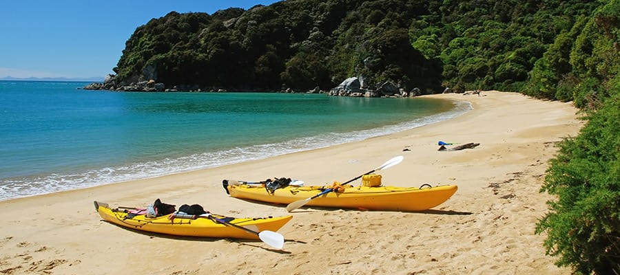 Kayaking on a Bay of Islands Cruise
