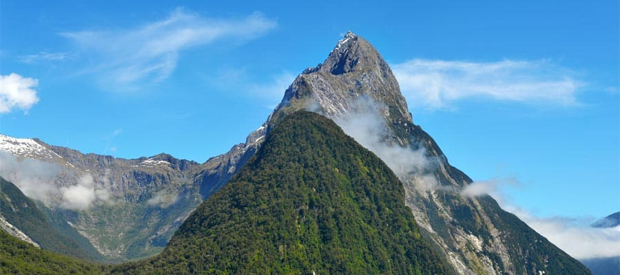 Famous Mitre Peak on Cruises to Bay of Islands