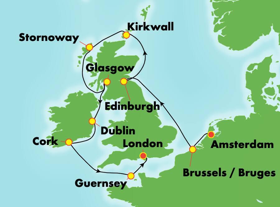 10-Day British Isles from Amsterdam To London: England & Ireland