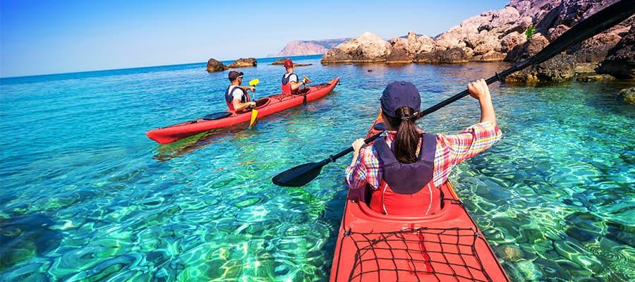Navega en kayak durante tu próximo crucero por las Bahamas