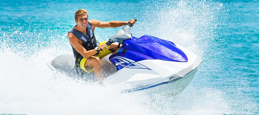 Ride a WaveRunner in the Bahamas