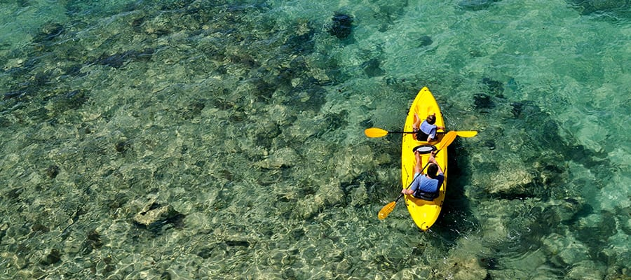 Kayak on your next Bermuda Cruise