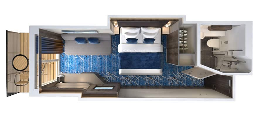 Floor plan Balcony - Connecting Stateroom