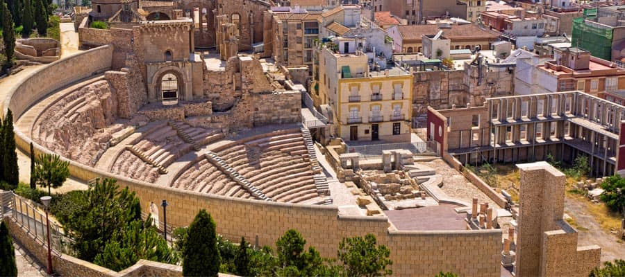 Roman Amphitheatre on your Cartagena cruise
