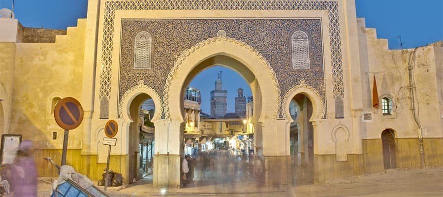 Bab Bou Jeloud gate on your Europe cruise