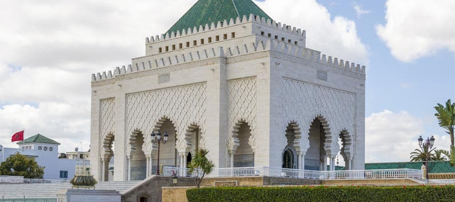 The Mausoleum of Mohammed V on your Morocco cruise
