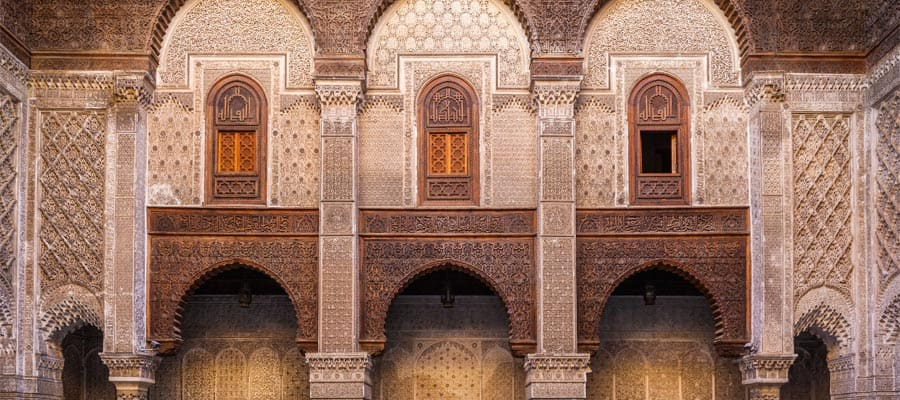 Al-Attarine Madrasa in Fez on your Morocco cruise