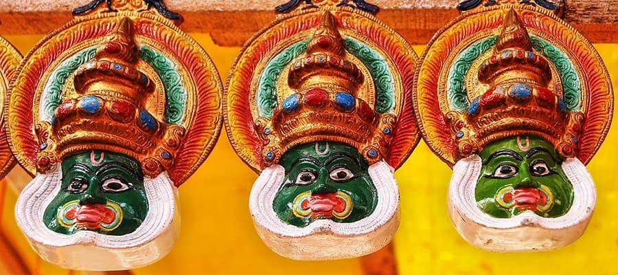 Máscaras Kathakali en tu crucero por Cochin