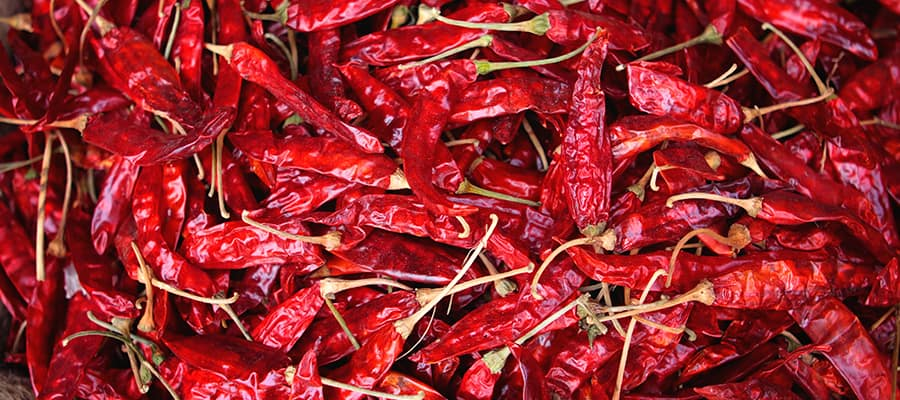 Chili Peppers on your Cochin Cruises