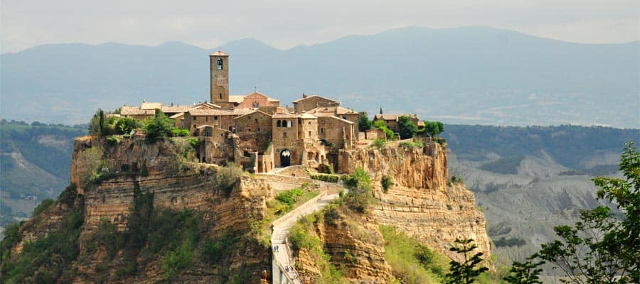 Civita di Bagnoregio on Europe Cruises