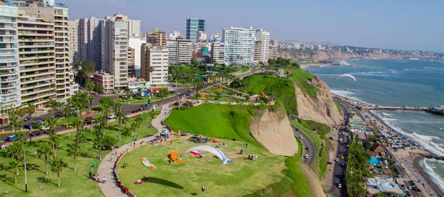 Aerial shot of Lima city
