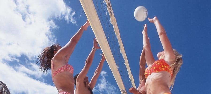Volleyball in Costa Maya on your Caribbean cruise