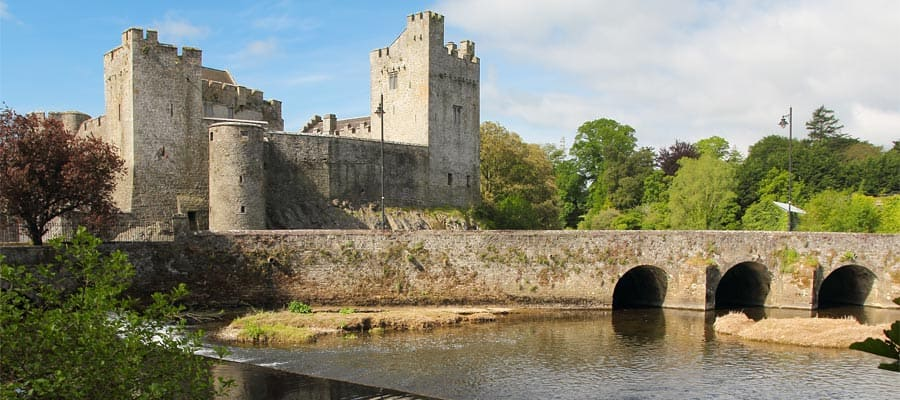 Irish castle of Cahir in Tipperary county on your Europe cruise