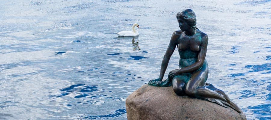 Travel to The Little Mermaid when you cruise to Copenhagen