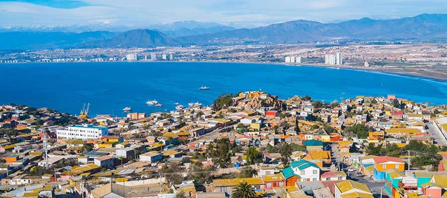 Panorama of Coquimbo on a Panama Canal cruise