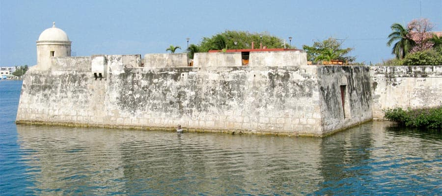 Wall of Cartagena de Indias on a South America cruise