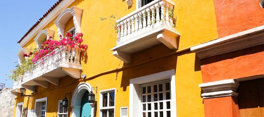 Spanish colonial house on a South America cruise