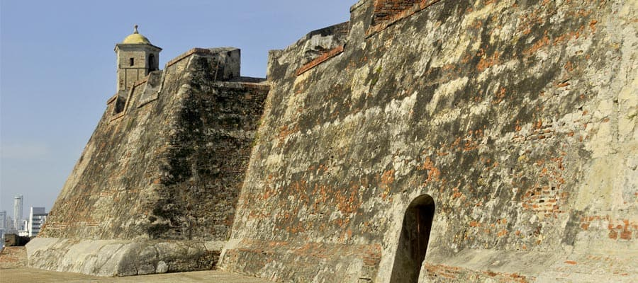 The Castillo San Felipe de Barajas on a South America cruise