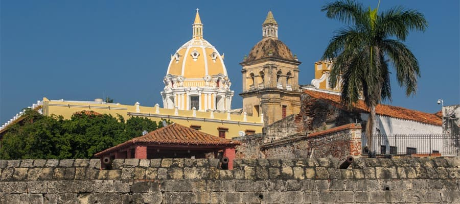 Walled town of Cartagena on your South America cruise