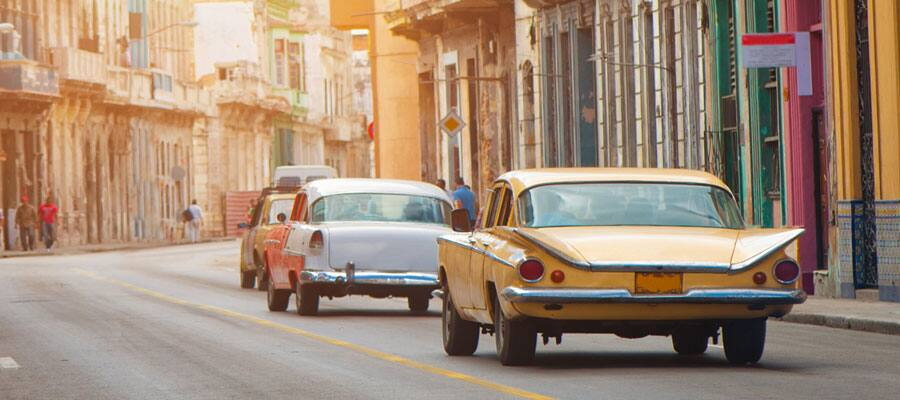 Cruise through Havana, Cuba in old cars
