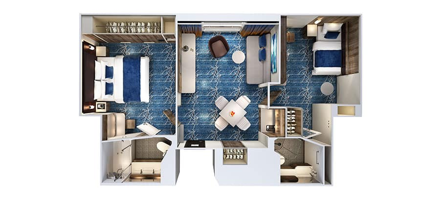Floor plan Concierge Family Inside