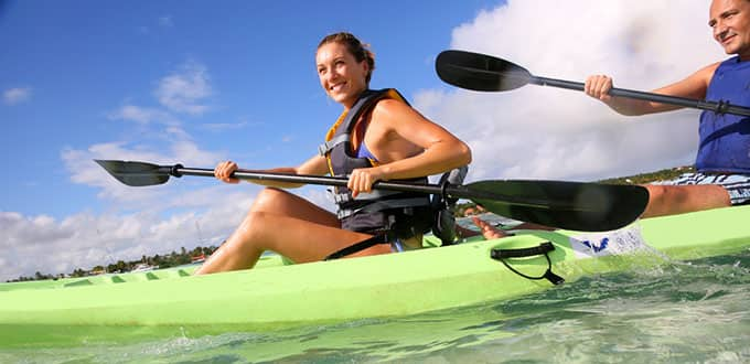 Cruise across crystal waters on a Cozumel kayaking adventure