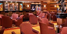 Norwegian Dawn cruise ship Gatsby's Champagne Bar.