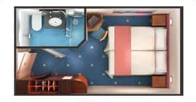 Norwegian Dawn cruise ship Inside Stateroom floorplan.