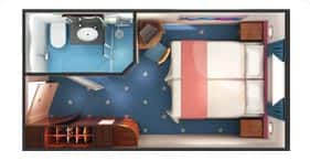 Norwegian Dawn cruise ship Oceanview Stateroom floorplan.
