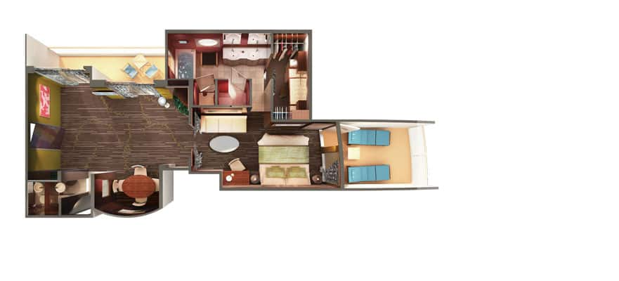 Floor plan Owner's Suite with Two Balconies
