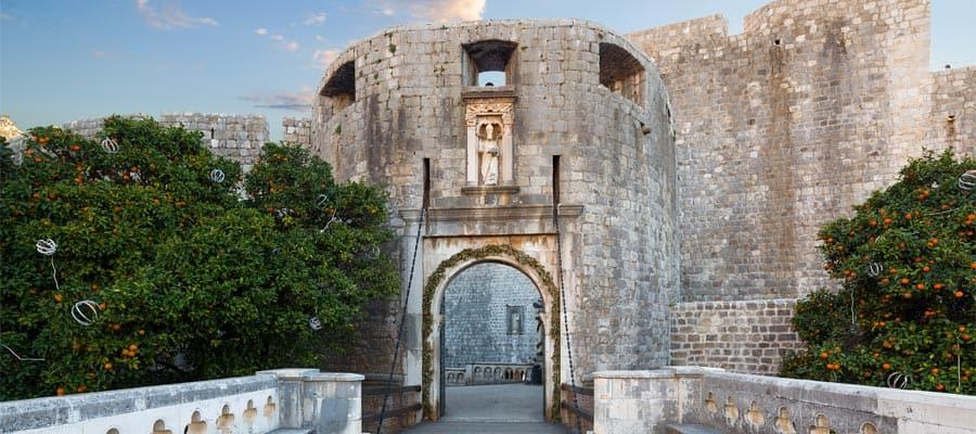 La Porte Pile à Dubrovnik, en Croatie