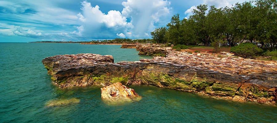 Rocky coastline of Darwin