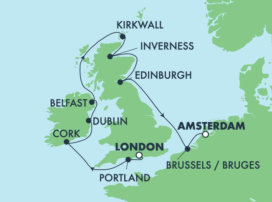 10-Day British Isles from London to Amsterdam: England & Ireland