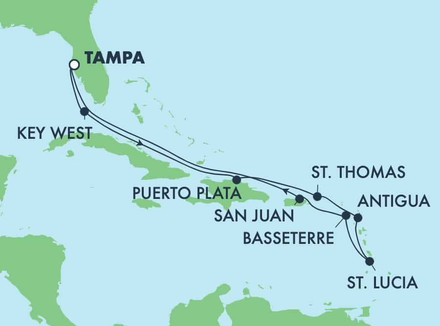 11-Day Caribbean Round-trip Tampa