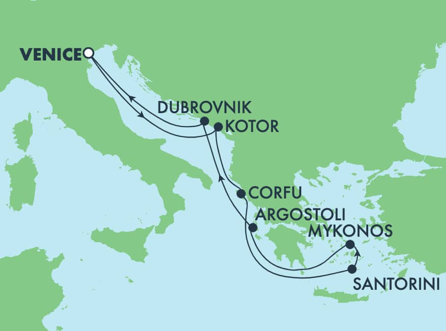 הפלגת 7 ימים לאיי יוון מונציה