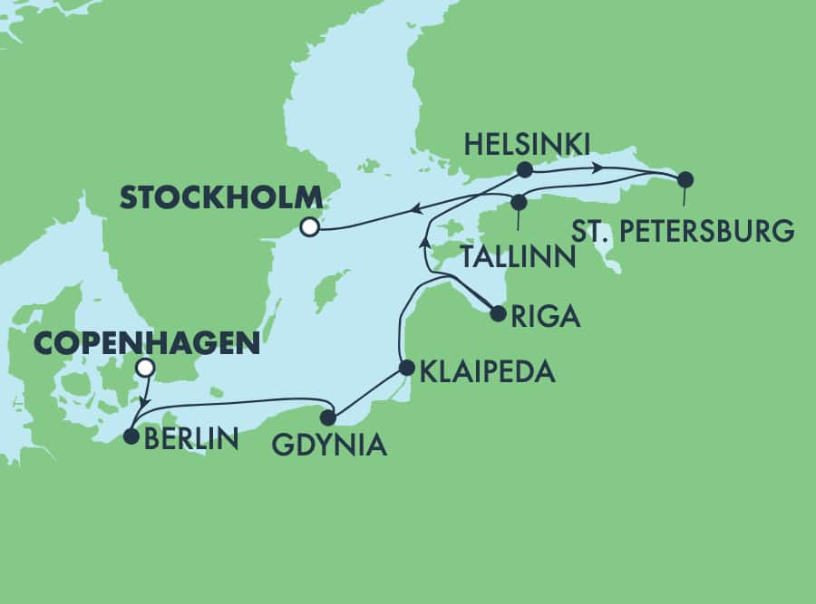 9-Day Baltic from Copenhagen to Stockholm: Russia, Poland & Finland